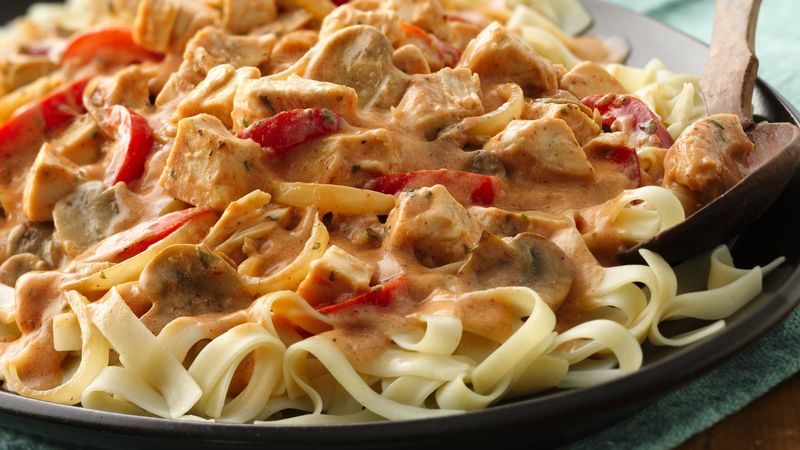 Cajun chicken fettuccine recipe bettycrocker cajun chicken fettuccine forumfinder Image collections
