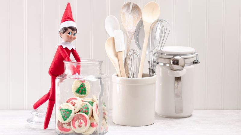 Elf on the Shelf in the Cookie Jar