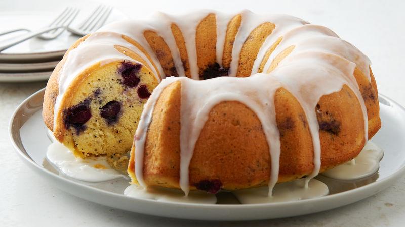 Lemon Poppy Seed Blueberry Bundt Cake