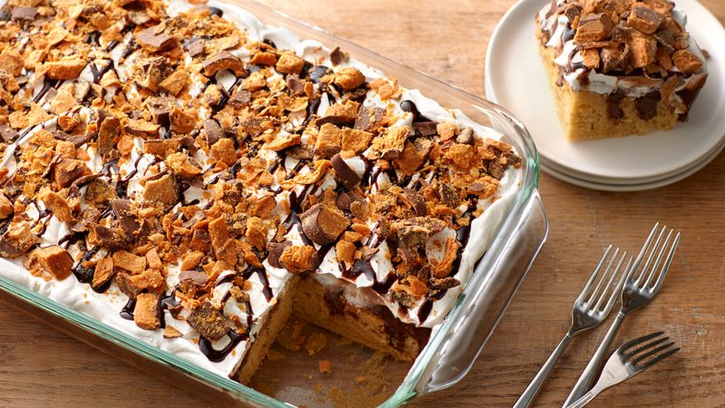 Butterfinger Poke Cake Recipe Bettycrocker Com