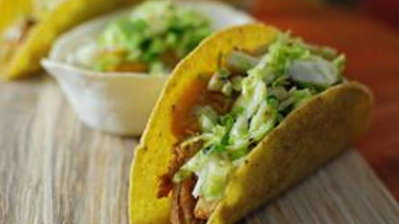 Pork Squash and Brussels Sprout Tacos