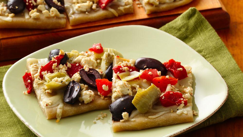 Gluten-Free Greek Appetizer Pizza