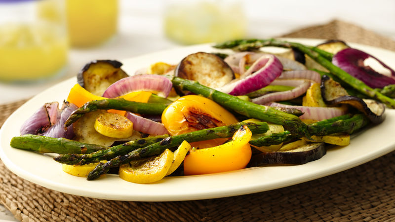 Grilled Summer Vegetables with Fresh Garlic