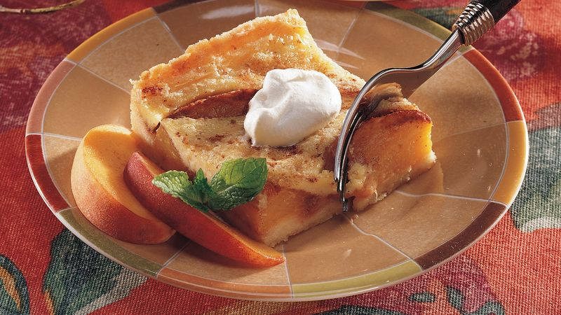 Peachy Custard Dessert
