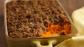 Carrot Soufflé with Pecan Topping