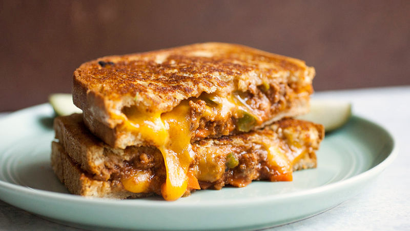 sloppy joe grilled cheese sandwiches recipe tablespoon com