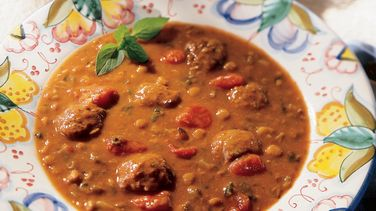 Italian Meatball and Lentil Soup