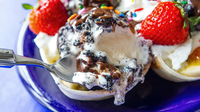 Fried Ice Cream Balls