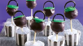 Witch's Cauldron Halloween Cake Pops