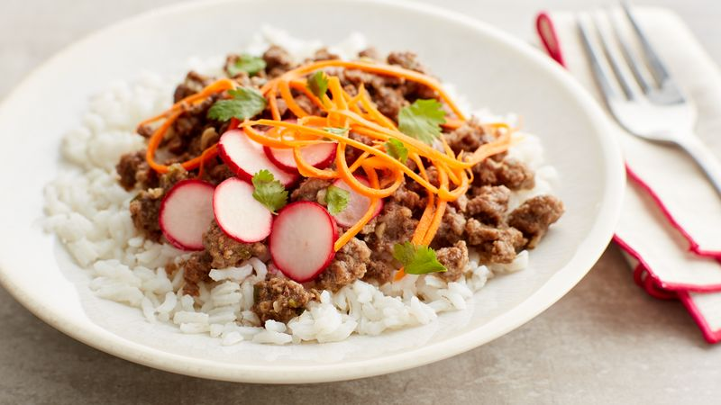 Asian Beef Rice Bowls