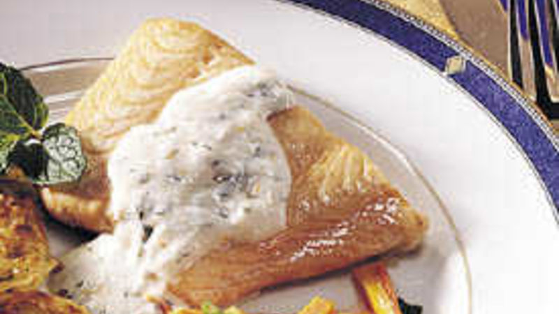 Salmon with Mint Sauce