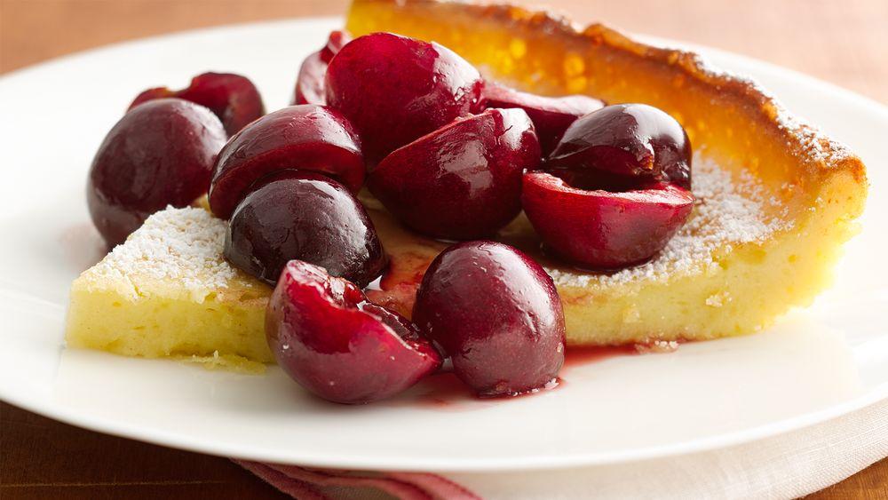 Cherry-Vanilla Dutch Pancake