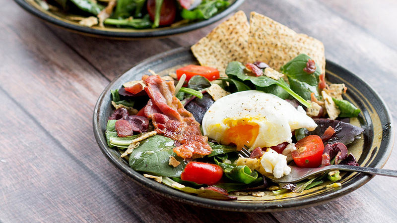 Breakfast Bagel Salad with The Works Croutons