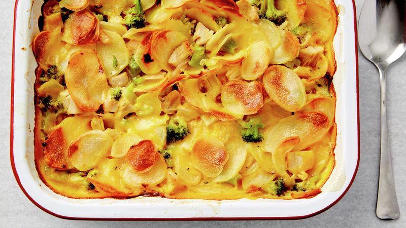 Chicken and Three-Cheese Potato Casserole