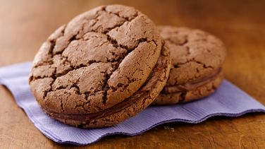 Cocoa Crinkle Sandwich Cookies