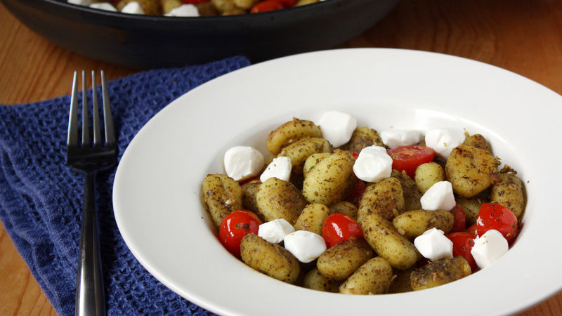 Pan-Fried Caprese Gnocchi