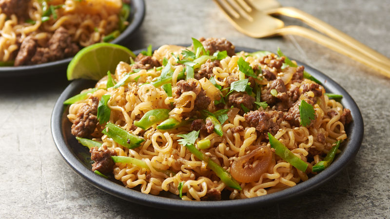 Beef Ramen Noodles with Sesame and Ginger