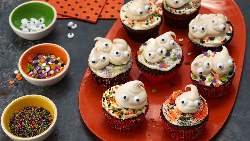 Spooky Ghost Cupcakes