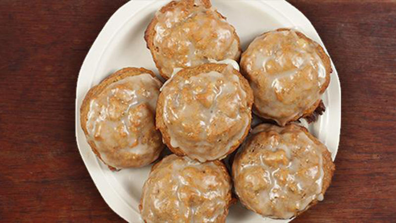 Persimmon Cookies with Orange Bourbon Glaze
