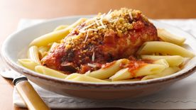 Slow-Cooker Chicken Parmesan with Penne Pasta