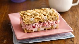 Strawberry Marshmallow Crisp Ice Cream Sandwiches