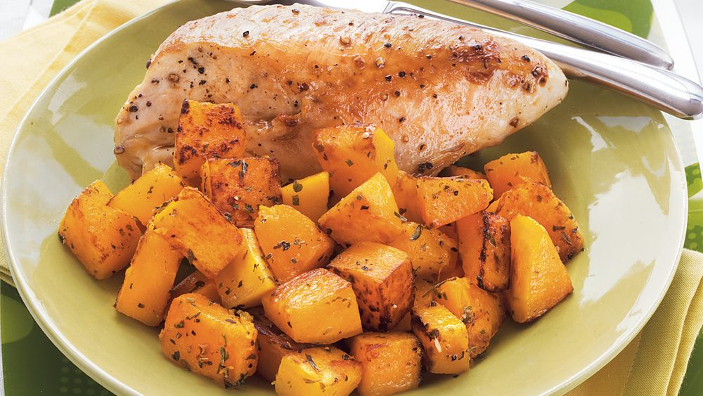 Roasted Chicken and Butternut Squash