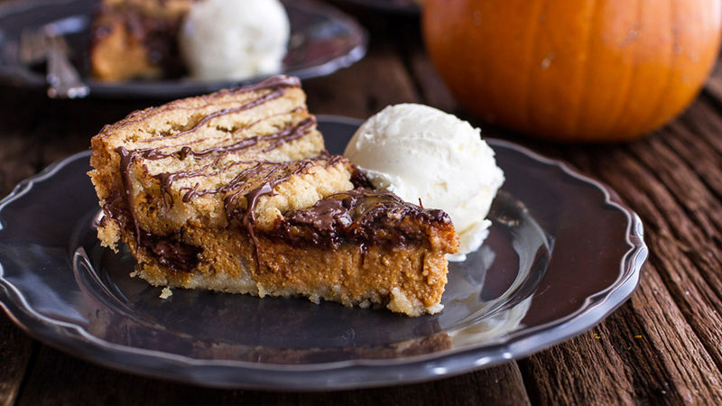 Nutella® Swirled Pumpkin Pie