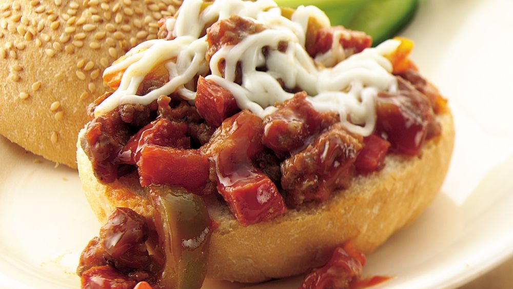 Slow-Cooker Sausage Pizza Sloppy Joes