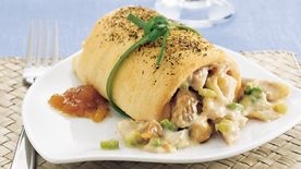 Chicken Salad Crescent Cannoli