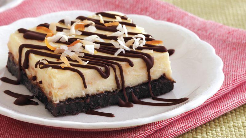 Toasted Coconut Cheesecake Bars