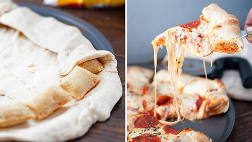 Pizza Roll Stuffed-Crust Pizza