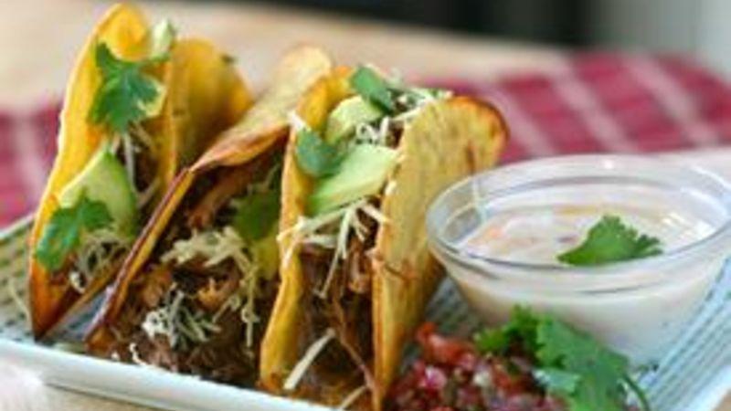 3 Ingredient Shredded Beef Tacos