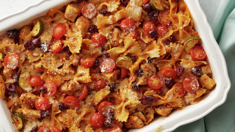 Lighter Mediterranean Pasta Bake