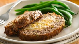 Mashed Potato Stuffed Meatloaf
