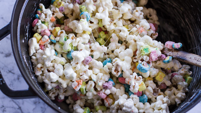 Lucky Charms Rainbow Popcorn Balls Recipe Tablespoon Com