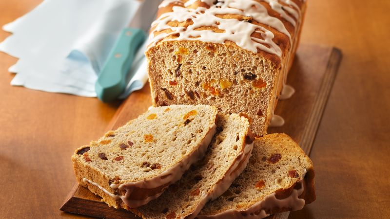 Dried Fruit and Cinnamon Batter Bread