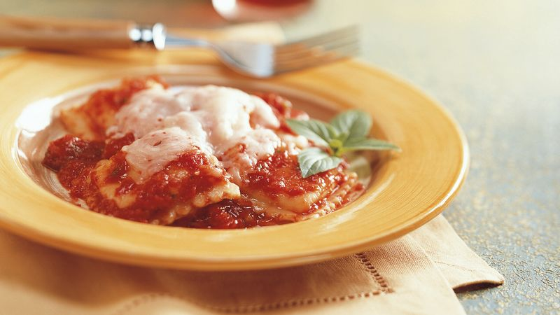 Ravioli with Tomato Basil