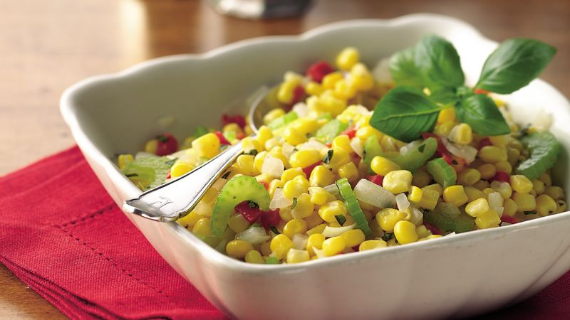 Corn with Basil