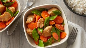 Orange Chicken with Snow Peas and Carrots (Cooking for 2)