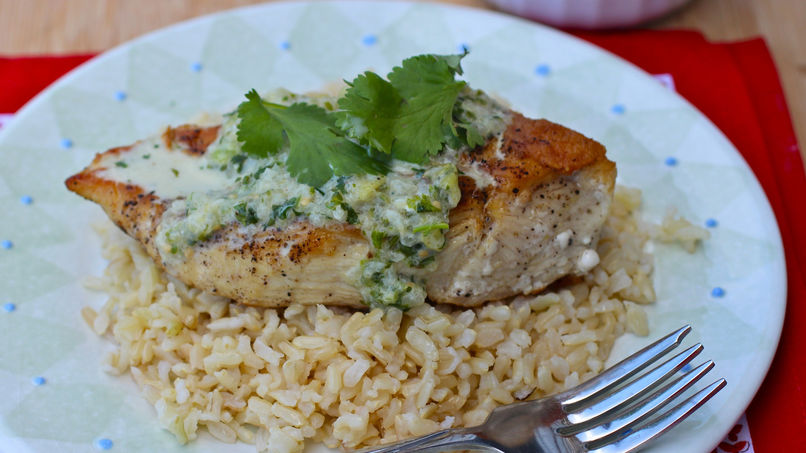 Chicken with Tomatillo Sauce