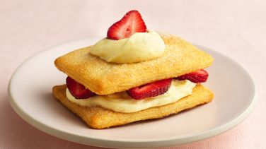 Crescent Strawberry Napoleons