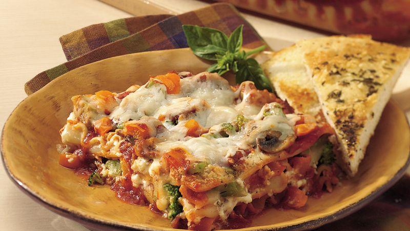 Garden Vegetable Lasagna Recipe - Bettycrocker.Com