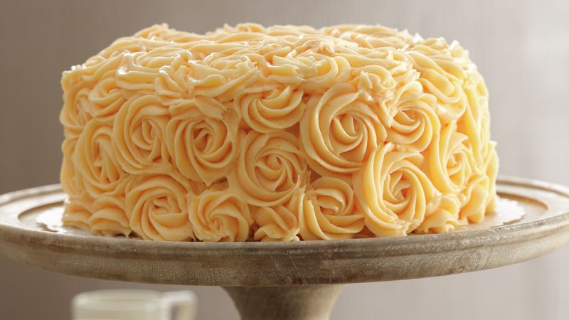 Peaches and Buttercream Cake