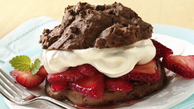 Shortcakes au chocolat et aux fraises
