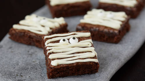 mummy brownies recipe bettycrockercom