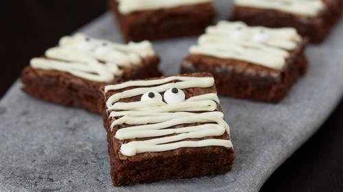 mummy brownies recipe bettycrockercom