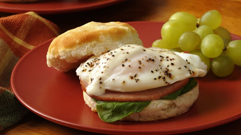 Florentine Ham and Egg Breakfast Biscuits
