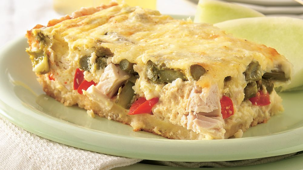 Chicken-Asparagus Quiche