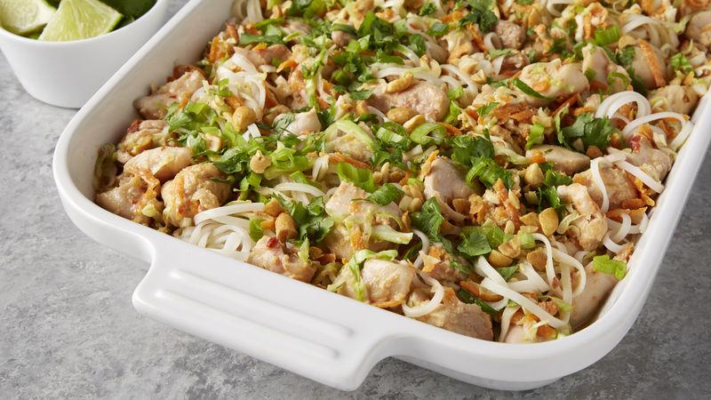 Chicken Pad Thai Casserole