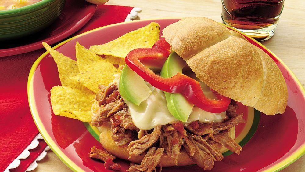 Slow-Cooker Tex-Mex Turkey Sandwiches